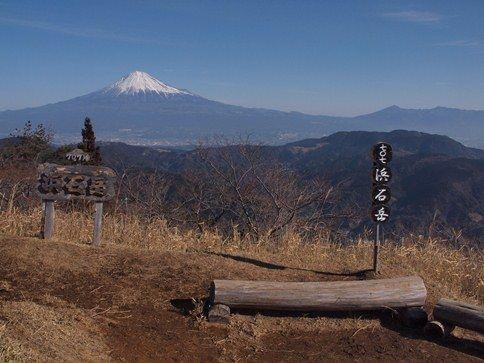 浜石岳からみた富士山
